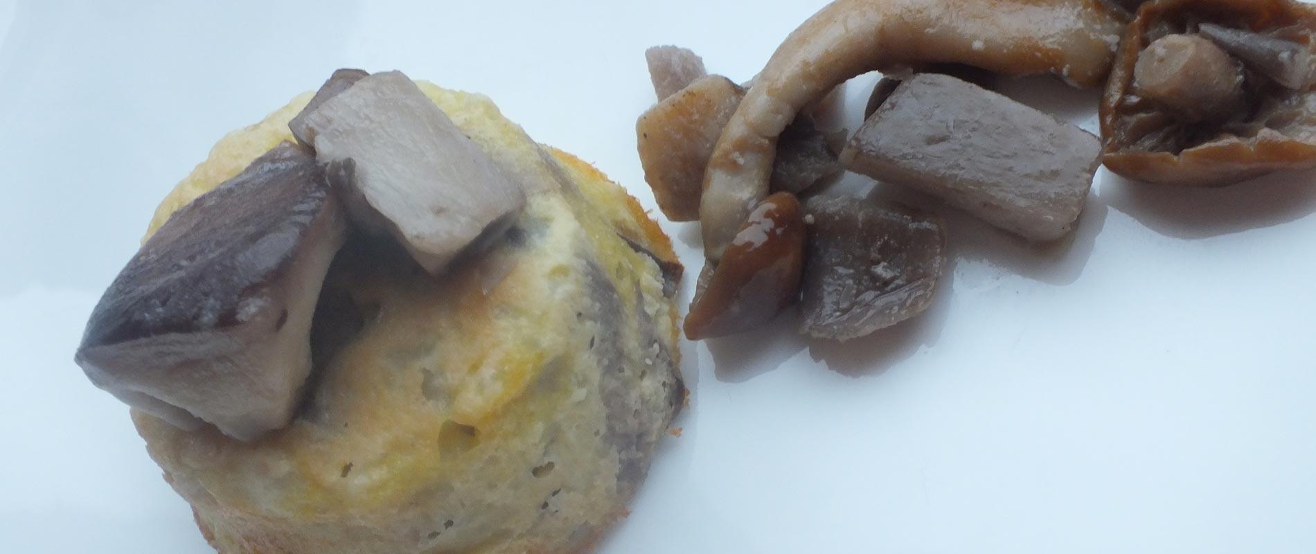 Tortino di patate con funghi e camembert