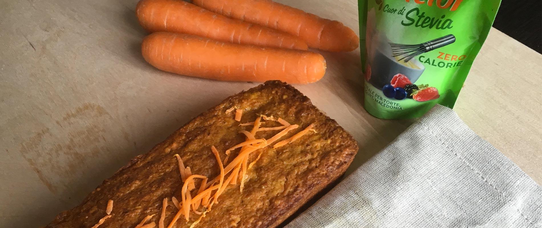 Torta alle carote con My Dietor Cuor di Stevia Sfuso