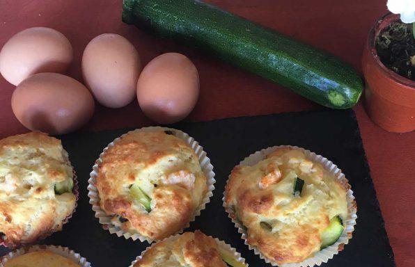 Muffin zucchine e gamberetti