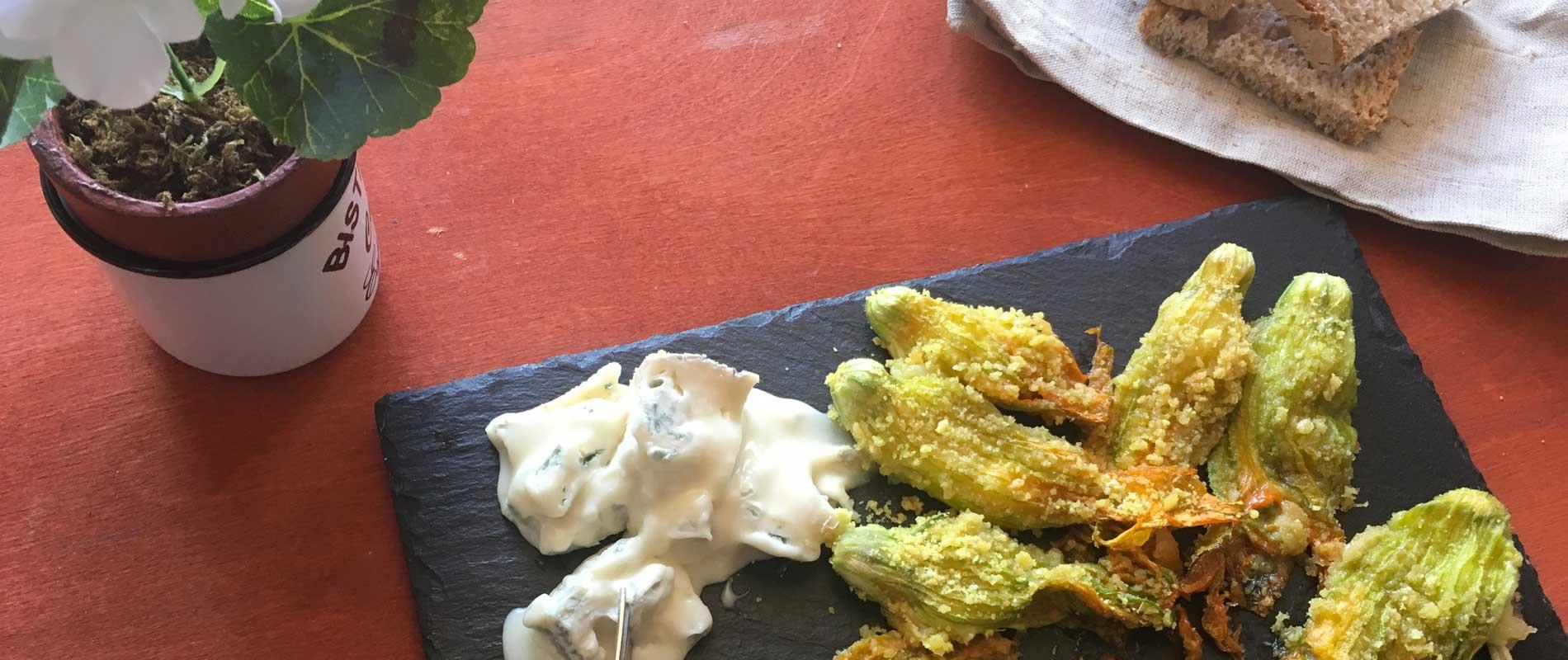 Fiori di zucca al Gorgonzola